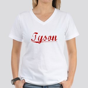 Tyson, Vintage Red Women's V-Neck T-Shirt