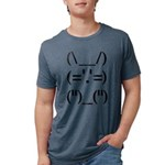 Text Bunny Mens Tri-blend T-Shirt