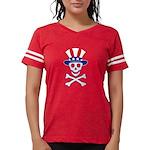 UncleSammySkull_wht Womens Football Shirt