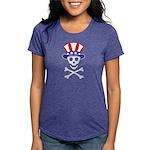 UncleSammySkull_wht Womens Tri-blend T-Shirt