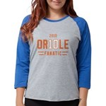 2-Oriole_Fanatic Womens Baseball Tee