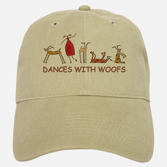 Dances with Woofs (female) White or Tan Baseball Baseball Cap