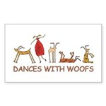 Dances with Woofs (female) Sticker