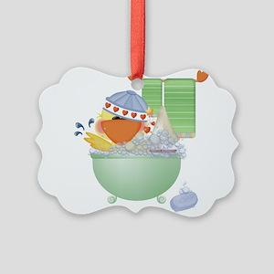 cute bathtime ducky Picture Ornament