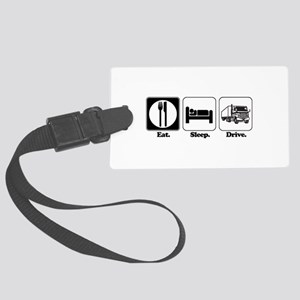 drive truck Large Luggage Tag