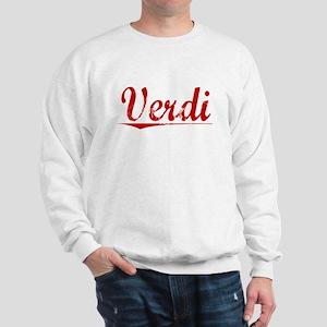 Verdi, Vintage Red Sweatshirt