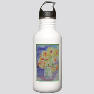 Floral Bouquet! Daffodils in vase! Stainless Water