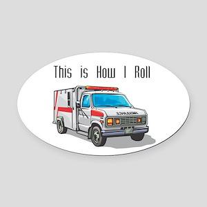 ambulence copy Oval Car Magnet