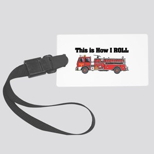 fire truck Large Luggage Tag