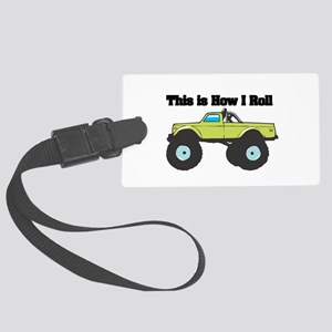 monster truck Large Luggage Tag