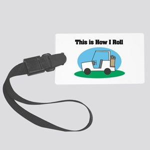 golf cart copy Large Luggage Tag