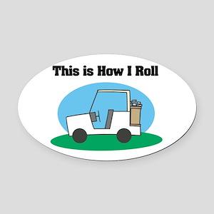 golf cart copy Oval Car Magnet