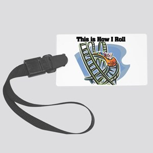 roller coaster Large Luggage Tag