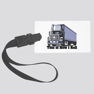 tractor trailer Large Luggage Tag