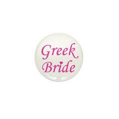Greek Bride Mini Button
