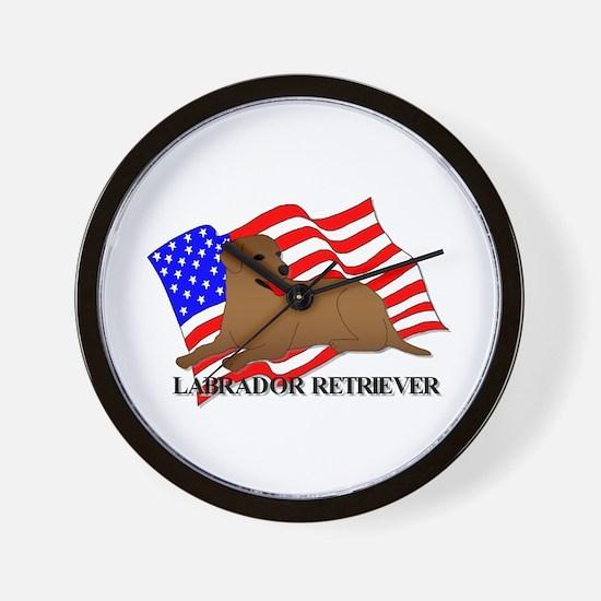 Labrador Retriever USA Wall Clock