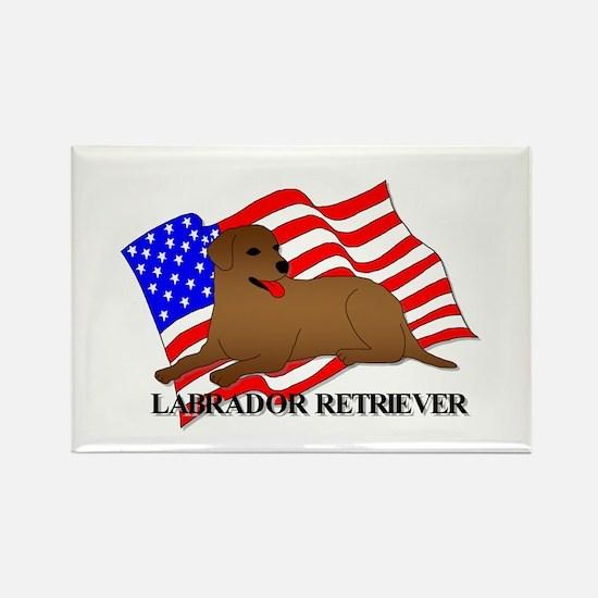 Labrador Retriever USA Rectangle Magnet