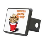 fries with that.png Rectangular Hitch Cover