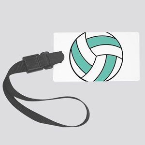 volleyball belly Large Luggage Tag
