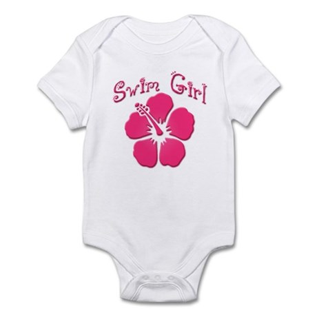 Swim Girl - Dark Pink Infant Creeper