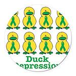 depression ducks.png Round Car Magnet