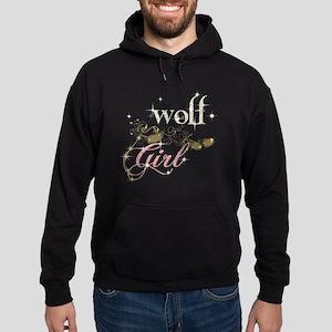 Wolf Girl Sparkly Hoodie (dark)