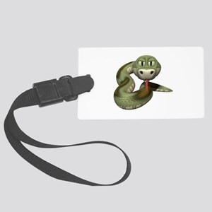 green snake copy Large Luggage Tag