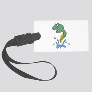 leaping tadpole copy Large Luggage Tag