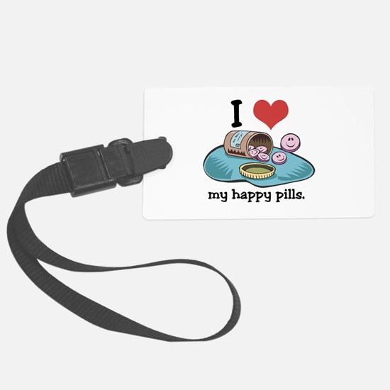 hearthappypills.jpg Luggage Tag