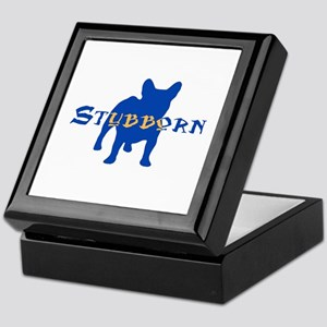Stubborn Frenchie (blue) Keepsake Box