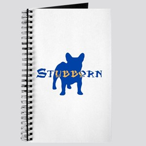 Stubborn Frenchie (blue) Journal