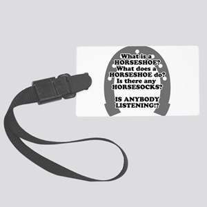 what is a horseshoe Large Luggage Tag