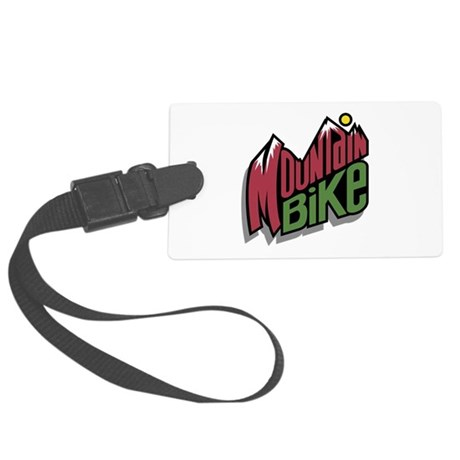mountain bike graphic copy.jpg Large Luggage Tag