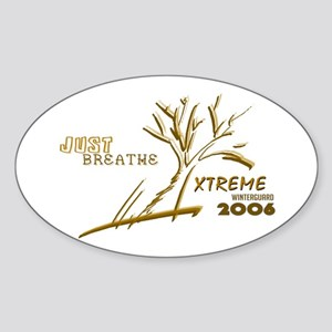 Just Breathe X-Treme Oval Sticker