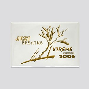 Just Breathe X-Treme Rectangle Magnet