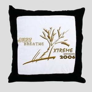 Just Breathe X-Treme Throw Pillow