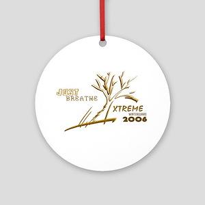 Just Breathe X-Treme Ornament (Round)