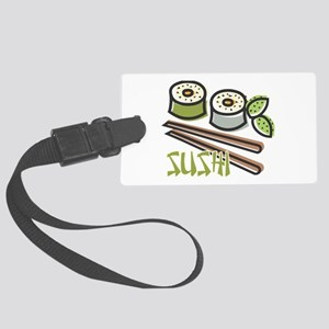 cool sushi design Large Luggage Tag