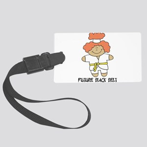 future black belt Large Luggage Tag