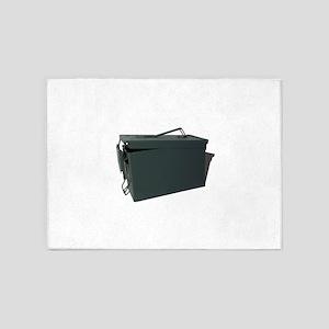 Green ammo box 5'x7'Area Rug