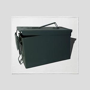 Green ammo box Throw Blanket