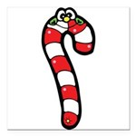 happy little candy cane Square Car Magnet 3