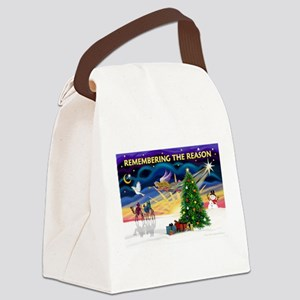 Remember-Christmas Sunrise Canvas Lunch Bag