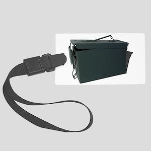 Green ammo box Large Luggage Tag