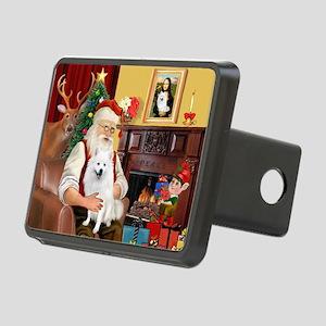 Santa & Amer Eskimo Rectangular Hitch Cover