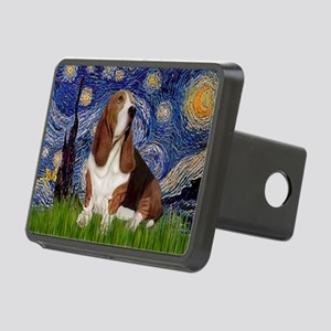 Starry Night Basset Rectangular Hitch Cover