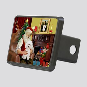 card-Santa1-Bichon2 Rectangular Hitch Cover
