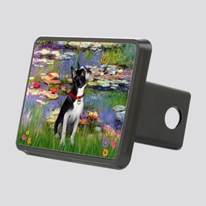 Boston Terrier 2 - Lilies #2 Rectangular Hitch Cov