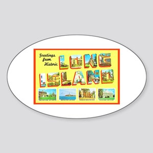 Long Island New York Sticker (Oval)