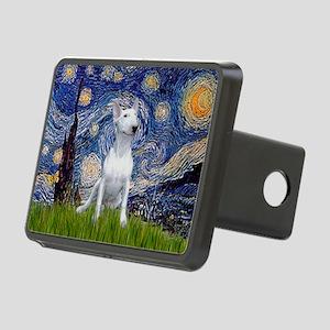 Starry Night/Bull Terrier Rectangular Hitch Cover
